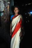少年印地安女孩 免版税库存图片