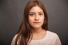 少年女孩的讲西班牙语的美国人 免版税图库摄影