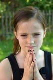少年恼怒的女孩 库存图片
