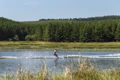 少年水橇 免版税库存图片