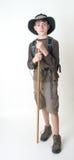 少年男孩的远足者 免版税库存照片
