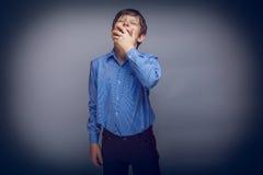 少年男孩10年欧洲出现要 免版税库存图片