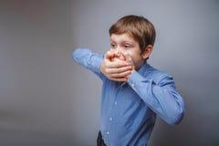少年男孩10年欧洲出现 免版税库存图片