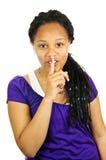 少年的女孩 免版税库存图片