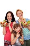 少年的妇女和小女孩 免版税库存图片