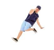 少年跳舞在活动的霹雳舞 免版税图库摄影