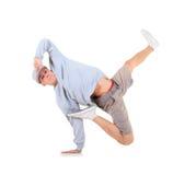 少年跳舞在活动的霹雳舞 免版税库存图片