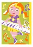 少年键盘乐器演奏家 库存照片