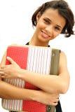 少年非洲裔美国人的女学生 免版税库存照片