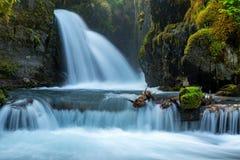 维尔京小河在阿拉斯加落 免版税库存图片