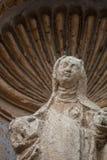 维尔京玛里雕象在安地瓜 免版税图库摄影