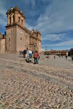 维尔京的做法的大教堂大教堂 库斯科 秘鲁 免版税库存图片