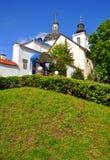 维尔京的诞生的教会在一个女修道院在哥罗德诺 迟来的 免版税库存照片