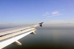 从维尔京美国飞行的看法 库存图片