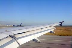 从维尔京美国飞行的看法 免版税图库摄影