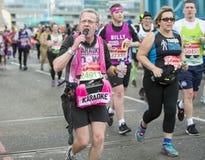 维尔京金钱伦敦马拉松 2016年4月24日 免版税库存图片