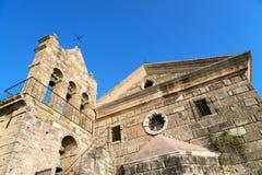 维尔京Anafonitria修道院,扎金索斯州,希腊 免版税库存图片