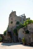 维尔京Anafonitria修道院,扎金索斯州,希腊 免版税库存照片
