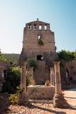维尔京Anafonitria修道院,扎金索斯州,希腊 库存图片