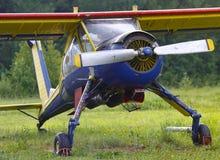 维尔加在地面的PZL 104 图库摄影