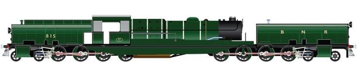贝尔加拉特印地安铁路的蒸汽机车 免版税库存照片