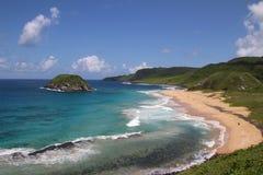 费尔南多・迪诺罗尼亚群岛巴西人海滩 库存照片