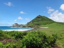 费尔南多・迪诺罗尼亚群岛巴西海滩- Atalaia足迹 免版税图库摄影