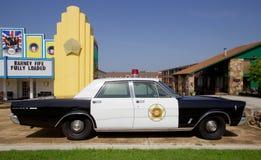 巴尔尼鼓笛的从安迪格里菲斯展示的巡逻车 免版税库存图片