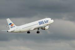 巴尔干假日服务空气- BH宣扬 库存图片