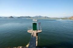 巴尔干最大的dsc湖montenegro skadar索尼 库存照片