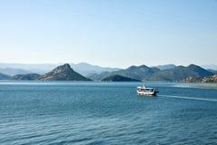 巴尔干最大的dsc湖montenegro skadar索尼 免版税库存图片
