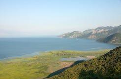 巴尔干最大的dsc湖montenegro skadar索尼 免版税库存照片
