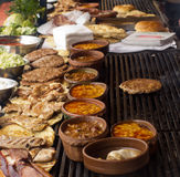 巴尔干烤肉 免版税库存图片