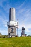 费尔德伯格/Taunus发射机帆柱在山顶部 库存图片