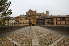 巴尔德罗夫雷斯村庄在阿拉贡,西班牙 库存照片