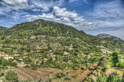 巴尔德莫萨村庄, & x28; 马略卡- Spain& x29; 库存图片