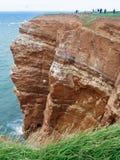 黑尔戈兰岛,德国红色峭壁  免版税库存图片