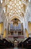 维尔斯大教堂在萨默塞特 库存照片