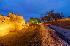 贝尔格莱德堡垒和Kalemegdan公园 图库摄影