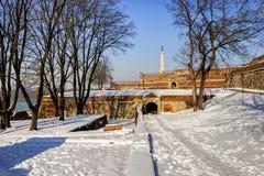 贝尔格莱德堡垒每冬天 免版税库存图片