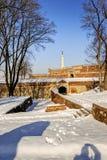 贝尔格莱德堡垒每冬天 免版税库存照片