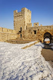 贝尔格莱德堡垒每冬天 库存图片