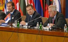 贝尔格莱德塞尔维亚 2016年12月13日:Counci的第35次会议 免版税库存照片