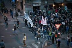 贝尔格莱德抗议塞尔维亚4月2017年, 库存图片
