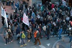 贝尔格莱德抗议2017年4月 免版税库存图片