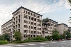 贝尔格莱德轰炸了大厦 免版税库存照片