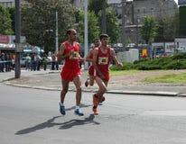 贝尔格莱德马拉松2014年 免版税库存图片
