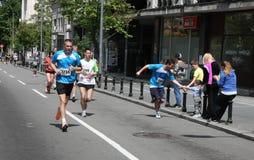 贝尔格莱德马拉松2014年 免版税库存照片