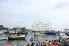 费尔森,荷兰- 2015年8月19日:风帆阿姆斯特丹2015年 免版税图库摄影