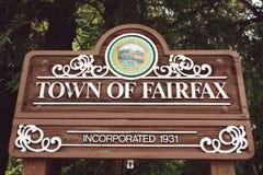 费尔法克斯镇  免版税库存照片